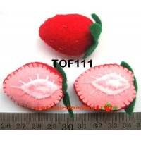 TOF111	Topping Flanel strawberry belah dua (Persatuan)
